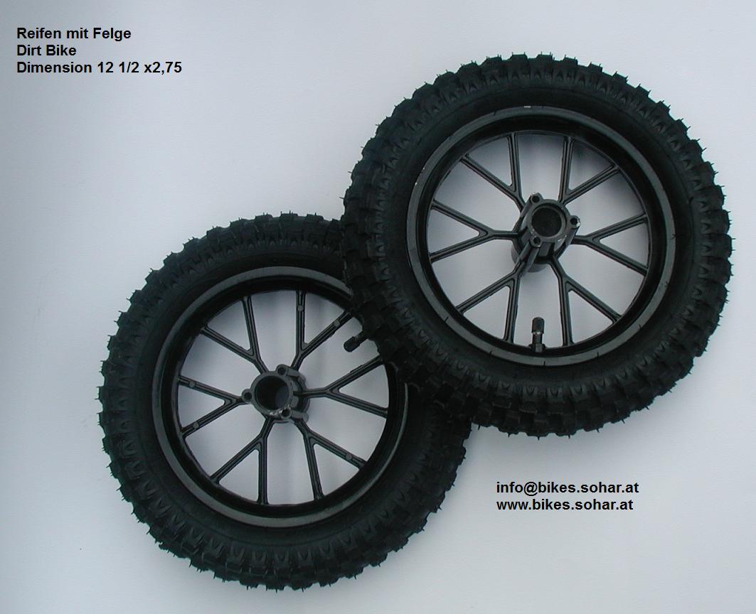 set reifen felge schlauch dirt bike 12 1 2 x 2 75 49cc. Black Bedroom Furniture Sets. Home Design Ideas